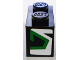 Part No: 3004pb090L  Name: Brick 1 x 2 with Green and Black Pattern on End, Model Left (Sticker) - Set 8898