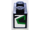 Part No: 3004pb090R  Name: Brick 1 x 2 with Green and Black Pattern on End, Model Right (Sticker) - Set 8898