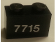 Part No: 3004pb158  Name: Brick 1 x 2 with White '7715' on Trans-Clear Background Pattern (Sticker) - Set 7715