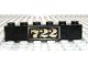 Part No: 3009px52  Name: Brick 1 x 6 with Gold '722' Pattern