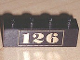 Part No: 3010pb001  Name: Brick 1 x 4 with Gold '126' Pattern