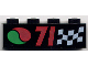Part No: 3010pb014  Name: Brick 1 x 4 with '71', Checkered Flag, and Octan Logo Pattern