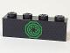 Part No: 3010pb215  Name: Brick 1 x 4 with Green Ninjago Emblem Pattern