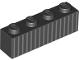 Part No: 3010pb255  Name: Brick 1 x 4 with Silver Vertical Stripes Pattern  (BrickHeadz Jack Skellington Abdomen)