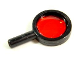 Part No: 30152c02  Name: Minifigure, Utensil Magnifying Glass with Trans-Red Lens (Alpha Team)