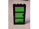 Part No: 30179c02  Name: Door Frame 1 x 4 x 6 with Black Door with Trans-Green Glass