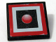 Part No: 30258pb013  Name: Road Sign Clip-on 2 x 2 Square with Red Light in Square Pattern (Sticker) - Set 10128