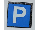 Part No: 30258pb025  Name: Road Sign Clip-on 2 x 2 Square with Parking Pattern (Sticker) - Set 3182