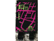 Part No: 30350bpb058  Name: Tile, Modified 2 x 3 with 2 Clips with Magenta Map and Lime Notes Pattern 1(Sticker) - Set 79117
