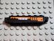 Part No: 30388pb002  Name: Hinge Brick 1 x 6 Locking with Orange Chevron and '7693' Pattern on Both Sides (Stickers) - Set 7693