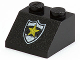 Part No: 3039pb017  Name: Slope 45 2 x 2 with Police Yellow Star Badge Pattern