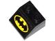 Part No: 3039pb075  Name: Slope 45 2 x 2 with Yellow Batman Logo Pattern (Sticker) - Set 76011