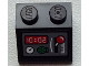 Part No: 3039pb085  Name: Slope 45 2 x 2 with Gauge, Clock, Radio and Red Lever Pattern (Sticker) - Set 60051