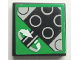 Part No: 3068bpb0102  Name: Tile 2 x 2 with Groove with Rotation Sensor Pattern (Sticker) - 8479