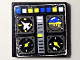 Part No: 3068bpb0119  Name: Tile 2 x 2 with Groove with Avionics Controls Pattern (Sticker) - Set 8222