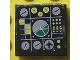 Part No: 3068bpb0125  Name: Tile 2 x 2 with Avionics Green and Light Gray Pattern 1 (Sticker) - Set 8856