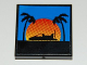 Part No: 3068bpb0183  Name: Tile 2 x 2 with Groove with Hovercraft Sunset Pattern (Sticker) - Set 8485