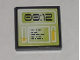 Part No: 3068bpb0294  Name: Tile 2 x 2 with Groove with Lime Computer Screen with '00:12' Pattern (Sticker) - Set 8971