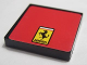 Part No: 3068bpb0623  Name: Tile 2 x 2 with Ferrari Logo Small Rectangular Pattern (Sticker) - Set 8652