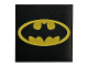 Part No: 3068bpb0999  Name: Tile 2 x 2 with Groove with Oval Batman Logo Pattern