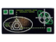 Part No: 3069bpx17  Name: Tile 1 x 2 with Copper and Silver Elliptical Display Pattern