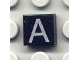 Part No: 3070bpb009  Name: Tile 1 x 1 with Groove with Letter Capital A Pattern