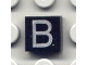 Part No: 3070bpb010  Name: Tile 1 x 1 with Groove with Letter Capital B Pattern