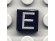 Part No: 3070bpb013  Name: Tile 1 x 1 with Letter Capital E Pattern
