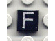 Part No: 3070bpb014  Name: Tile 1 x 1 with Groove with Letter Capital F Pattern