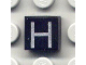 Part No: 3070bpb016  Name: Tile 1 x 1 with Letter Capital H Pattern