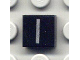 Part No: 3070bpb017  Name: Tile 1 x 1 with Groove with Letter Capital I Pattern