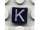 Part No: 3070bpb019  Name: Tile 1 x 1 with Letter Capital K Pattern