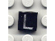 Part No: 3070bpb020  Name: Tile 1 x 1 with Letter Capital L Pattern
