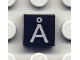 Part No: 3070bpb035  Name: Tile 1 x 1 with Letter Å Pattern