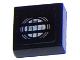 Part No: 3070bpb099  Name: Tile 1 x 1 with Chevrolet Camaro Car Headlight Pattern (Sticker) - Set 75874