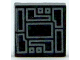 Part No: 3070bpb123  Name: Tile 1 x 1 with Groove with Silver Circuitry Pattern