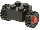 Part No: 3137c01assy2  Name: Brick, Modified 2 x 2 with Wheels Red for Single Tire with Black Tires 15mm D. x 6mm Offset Tread Small (3137c01 / 3641)