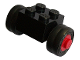 Part No: 3137c02assy1  Name: Brick, Modified 2 x 2 with Wheels Red for Dually Tire, with Black Tires Smooth Small Dually (3137c02 / 7b)