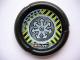 Part No: 32171pb031  Name: Throwbot Disk, Jet / Judge, 2 pips, radiating arrows logo Pattern