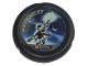 Part No: 32171pb035  Name: Throwbot Disk, Jet / Judge, 6 pips, holding up glowing disk Pattern