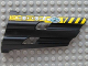 Part No: 32188pb03  Name: Technic, Panel Fairing # 3 Large Long, Large Holes, Side A with Black and Yellow Dange Stripes, 'CM' and Machinery Pattern (Sticker) - Set 8450