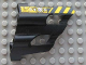 Part No: 32190pb03  Name: Technic, Panel Fairing # 1 Large Short, Large Holes, Side A with Black and Yellow Danger Stripes and Machinery Pattern (Sticker) - Set 8450
