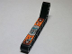 Part No: 32271pb006L  Name: Technic, Liftarm 1 x 9 Bent (7 - 3) Thick with Dark Turquoise, Silver and Orange Gauges and Levers Pattern Model Left (Sticker) - Set 8305