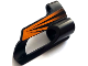 Part No: 32527pb13  Name: Technic, Panel Fairing # 5 Small Short, Large Hole, Side A with Black and Orange Stripes Pattern (Sticker) - Set 8516
