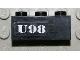 Part No: 3622pb025  Name: Brick 1 x 3 with White `U98' Pattern (Sticker) - Set 7783