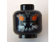 Part No: 3626bpb0449  Name: Minifigure, Head Alien with Red Eyes and White Fangs Pattern - Blocked Open Stud