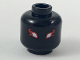 Part No: 3626cpb2050  Name: Minifig, Head Alien White Eyes with Red Flames Pattern