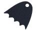 Part No: 37157  Name: Minifigure, Cape Cloth, Scalloped 5 Points with Single Top Hole (Juniors Batman) - Spongy Stretchable Fabric