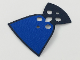 Part No: 38603pb01  Name: Minifigure, Cape Cloth, Rounded Bottom and Round Collar, Blue on One Side of Cape Pattern, Traditional Starched Fabric