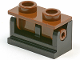 Part No: 3937c04  Name: Hinge Brick 1 x 2 Complete Assembly with Brown Top Plate